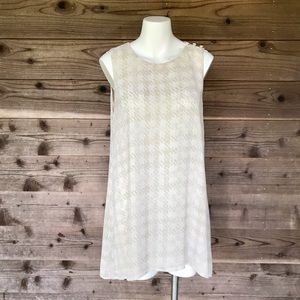 Paper Crown Fully Lined 3 Button Tank Tunic Med